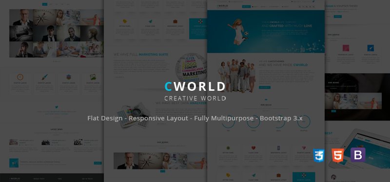 CWorld - Multi Purpose Bootstrap Theme